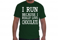 I Run Because... Man-Shirt